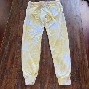 theo and spence yellow tie dye sweat pants